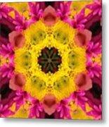 3d Pink Kaleidoscope Metal Print