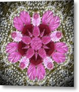 3d Pink Purple Mandala Painting Metal Print
