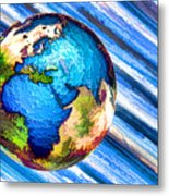 3d Render Of Planet Earth 10 Metal Print