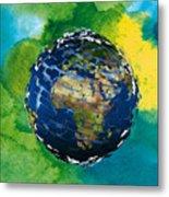 3d Render Of Planet Earth 14 Metal Print
