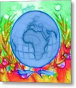 3d Render Of Planet Earth 17 Metal Print