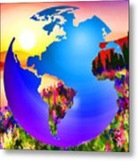3d Render Of Planet Earth 18 Metal Print