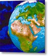 3d Render Of Planet Earth 6 Metal Print