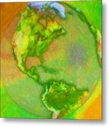 3d Render Of Planet Earth Metal Print