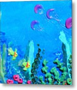 3d Under The Sea Metal Print by Ruth Collis