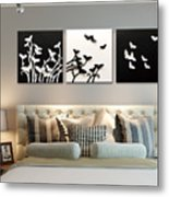 3d Wall Decor Painting Y1921a Metal Print
