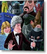 3rd Dr Who And Friends Metal Print