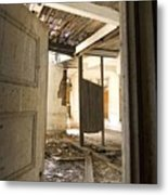 3rd Floor Door And Ruined Room Metal Print