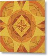 3rd Mandala - Solar Plexus Chakra Metal Print