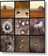 3x3 Brown Metal Print