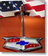 1954 Chevrolet Hood Emblem Metal Print