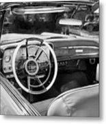 1959 Lincoln Continental Town Car Mk Iv Painted Bw Metal Print