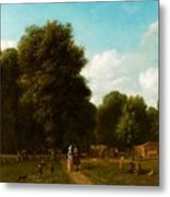 A View Of The The Haarlemmerhout Metal Print