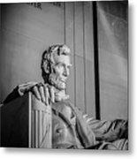 Abraham Lincoln Memorial In Washington Dc Usa Metal Print