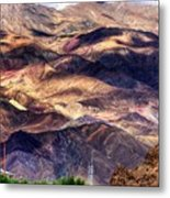 aerial view of Leh ladakh landscape Jammu and Kashmir India Metal Print
