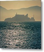Alcatraz Island Prison San Francisco Bay At Sunset Metal Print