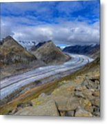 Aletsch Glacier, Switzerland Metal Print