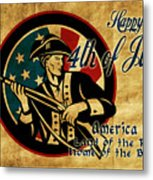 American Revolution Soldier General  Metal Print by Aloysius Patrimonio