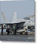 An Fa-18f Super Hornet On The Flight Metal Print