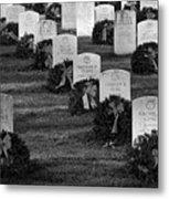Arlington National Cemetery At Christmas Metal Print