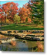 Autumn In Forest Park St Louis Missouri Metal Print