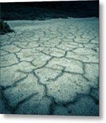 Badwater Basin Death Valley Salt Formations Metal Print