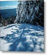Beautiful Nature And Scenery Around Snowshoe Ski Resort In Cass  Metal Print