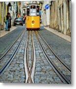 Bica Funicular, Lisbon, Portugal Metal Print
