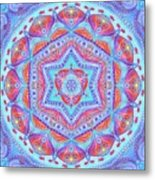 Birth Mandala- Blessing Symbols Metal Print