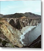 Bixby Creek Bridge Big Sur Photo By Pat Hathaway Metal Print