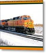 Burlington Northern Santa Fe Bnsf - Railimages@aol.com Metal Print
