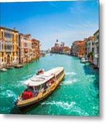 Canal Grande With Basilica Di Santa Maria Della Salute, Venice Metal Print