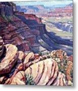 Canyon View Metal Print