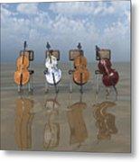 4 Cellos... - 4 Violoncelles... Metal Print