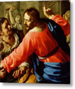 Christ Cleansing The Temple Metal Print