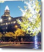Christmas Season Decorations Around Charlotte North Carolina And Metal Print
