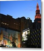 Terminal Tower And Sherwin Williams Building In Cleveland, Ohio, Usa Metal Print