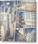 Collage Of Chicago  Metal Print