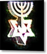 David's Menorah Jerusalem Metal Print