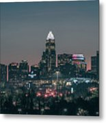 Early Morning In Charlotte Ncorth Carolina January 2018 Metal Print