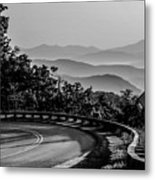 Early Morning Sunrise Over Blue Ridge Mountains Metal Print