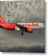 Easyjet Tartan Livery Airbus A319-111 Metal Print