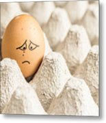 Eggs Have Feelings Too Metal Print