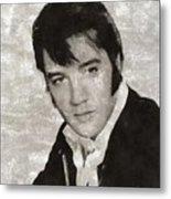 Elvis Presley, Legend  Metal Print