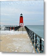 End Of The Pier Metal Print