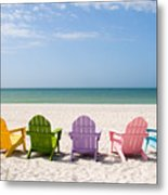 Florida Sanibel Island Summer Vacation Beach Metal Print