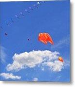 Flying Kite Festival  Metal Print