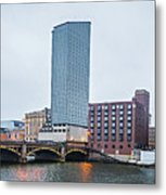 Grand Rapids Michigan City Skyline And Street Scenes Metal Print