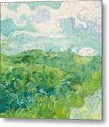 Green Wheat Fields, Auvers Metal Print