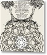Hebrew Prayer- Toda- Thanks To The Lord Metal Print